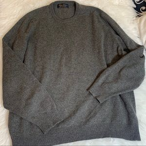 Brooks brothers gray 100% cashmere sweater XL